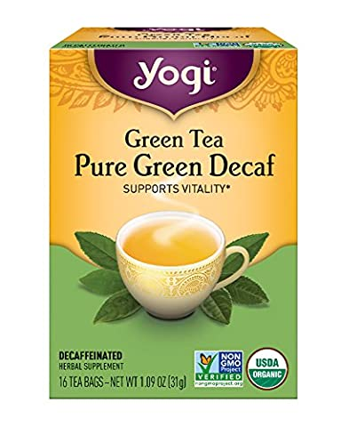 Yogi Tea, Simply Decaf Green, 16 Count (Pack of 6), Packaging May Vary