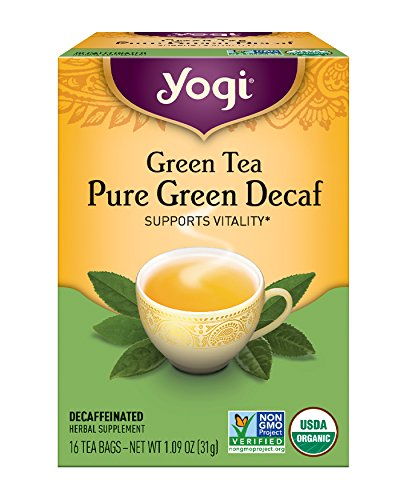 Yogi Tea, Pure Green Tea, Decaf, 16 Count (Pack of 6), Packaging May Vary - Yogi Caffeine Free Tea