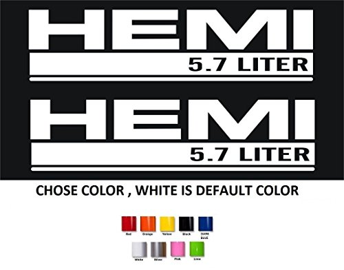 2 X Dodge Hemi 5.7 Liter Vinyl Decal Sticker Buy 2 Set 3rd Free (Hemi Window Decals compare prices)