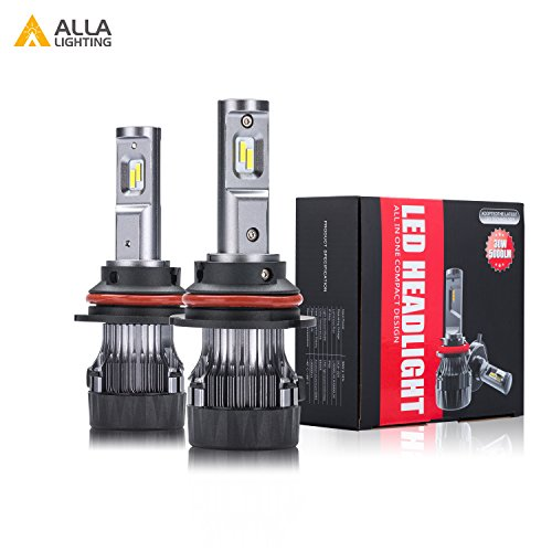 ALLA Lighting S-HCR Newest HB5 9007 LED Headlight Bulbs 10000Lms Extreme Super Bright LED 9007 Headlight Bulbs Conversion Kits Cool White Dual Hi/Lo Beam 9007 LED Headlamp Replacement ()