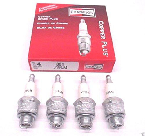 Champion Copper Plus Small Engine Spark Plug, Stk No. 861, Plug Type No. J19LM Box of 4 Spark Plugs
