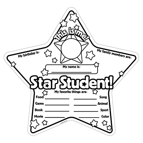 Fun Express - Cyo Star Student Poster- 30 - Craft Kits - CYO - Paper - Stationery - 30 Pieces -
