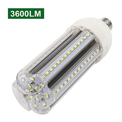 Porch Post Base (Hykolity 35W LED Corn Light Bulb [300W Incandescent Equivalent] 3600lm 6000K Cool White 110-265V AC Standard E26 Base for Home, Garage, Storage, Gate Post, Porch, Garden Use)