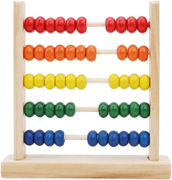 LJSLYJ Abacus Classic Wooden Toy Counting Beads Math Educational Counters Toys for Preschool Kids