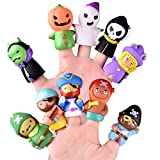 FUN LITTLE TOYS 10 PCs Halloween Finger Puppets for Kids, Best Choice for Halloween Party Favors, Pinata Fillers and Goodie Bag Fillers: more info