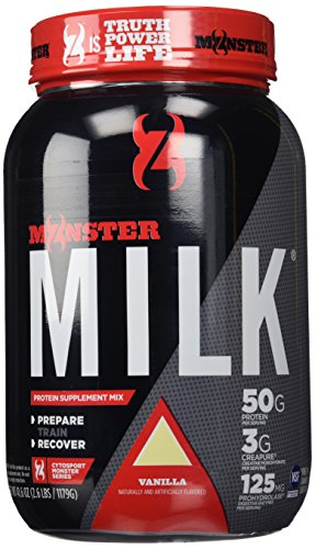 Cytosport Monster Milk Nutritional Drink, Powder Protein Supplement Mix, Vanilla Flavored, 2.6 Pound (About 13 Servings)