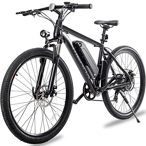 """Merax 26"""" Aluminum Electric Mountain Bike 7 Speed E-Bike, 36V Lithium Battery 350W Electric Bicycle for Adults"""