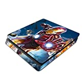 Decorative Video Game Skin Decal Cover Sticker for Sony PlayStation 4 Slim Console PS4 - Iron Man Superhero