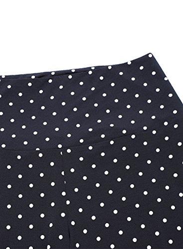 Arrisol Women's Stretchy Wide Leg Palazzo Lounge Pants (XL, D-Polka Dot) by Arrisol (Image #4)