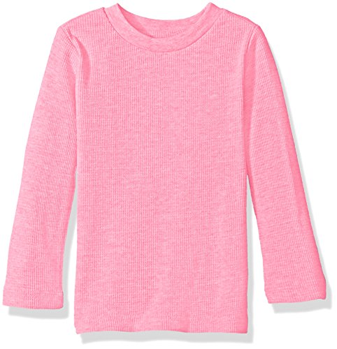 Limited Too Little Girls' Toddler Long Sleeve Thermal Top, Heather Pink, 3T (Girls Top)