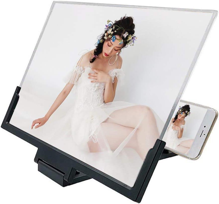 Compatible avec n/'Importe Quel Smartphone Factorys Loupe d/'/écran 14 Pouces pour t/él/éphone Portable avec Support Support Pliable amplificateur vid/éo 3D HD Movie