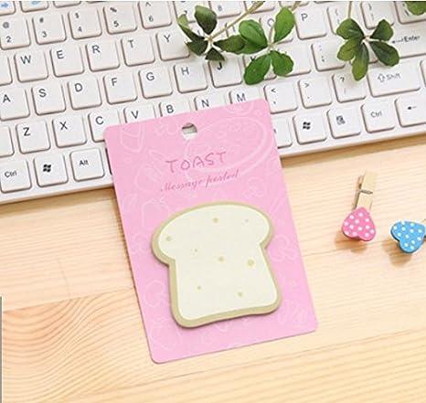 Shanf creativo forma cibo modello Sticky note Square Notetaking Tab Message Pad per messaggio note 12.5x8.8cm Green