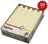 Bolsius Set of 30 Ivory Tapered Candles 10 Inch