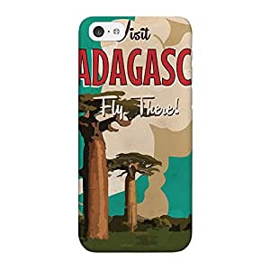 Madagascar Full Wrap High Quality 3D Printed Case for iPhone 5C by Nick Greenaway + FREE Crystal Clear Screen Protector