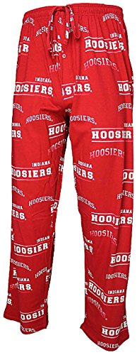 College Concepts NCAA Indiana Hoosiers Mens Crimson Fusion Pajama Pants (XL=36-37) College Concepts Cotton Pajama Bottoms