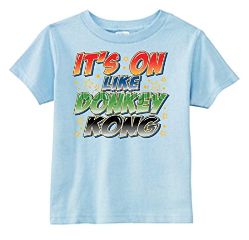 U.S. Custom Kids It's On Like Donkey Kong Toddler T-Shirt, 5-6T T-Shirt, Light Blue