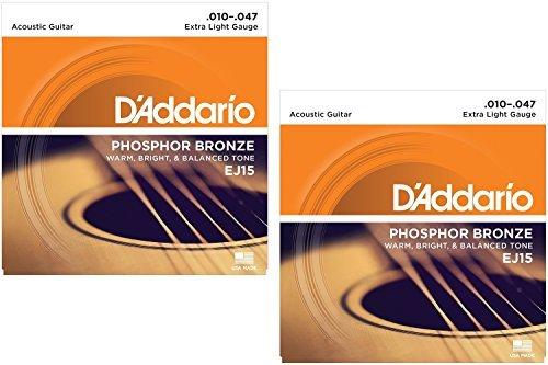 (Phosphor Bronze Acoustic Guitar Strings Extra Light .010-.047 EJ15 - 2)