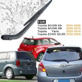 AUTOBOO For SCION XB 2008-2015,Yaris 2005-2014 Rear Windshield Back Wiper Arm Blade Set-OEM Factory Replacement Accessories Parts