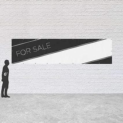 for Sale Basic Black Heavy-Duty Outdoor Vinyl Banner 16x4 CGSignLab