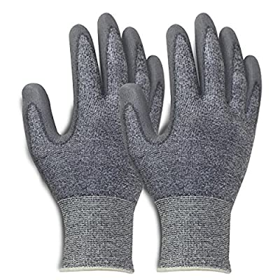 #1 Fan Club Seamless Nylon Knit Nitrile Coated Work Gloves, Garden Gloves, 2 pairs