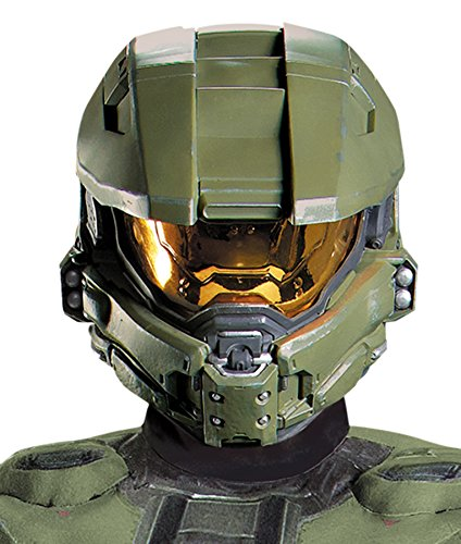 [Men's Halo Master Chief Character Helmet Halloween Costume Mask] (Master Chief Halo Costumes For Kids)