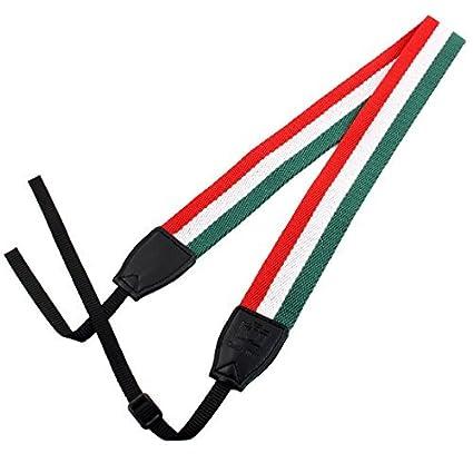 eDealMax SHETU cámara autorizado antideslizante del Cuello del hombro Correa de Cuello Rojo Verde Para SLR