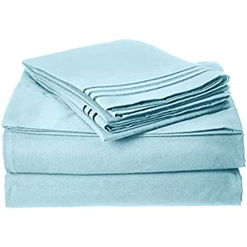 Best Seller Luxurious Bed Sheets Set on Amazon! Elegant Comfort 1500 Thread Count Wrinkle,Fade and Stain Resistant 4-Piece Bed Sheet set, Deep Pocket, HypoAllergenic - Queen Aqua Blue