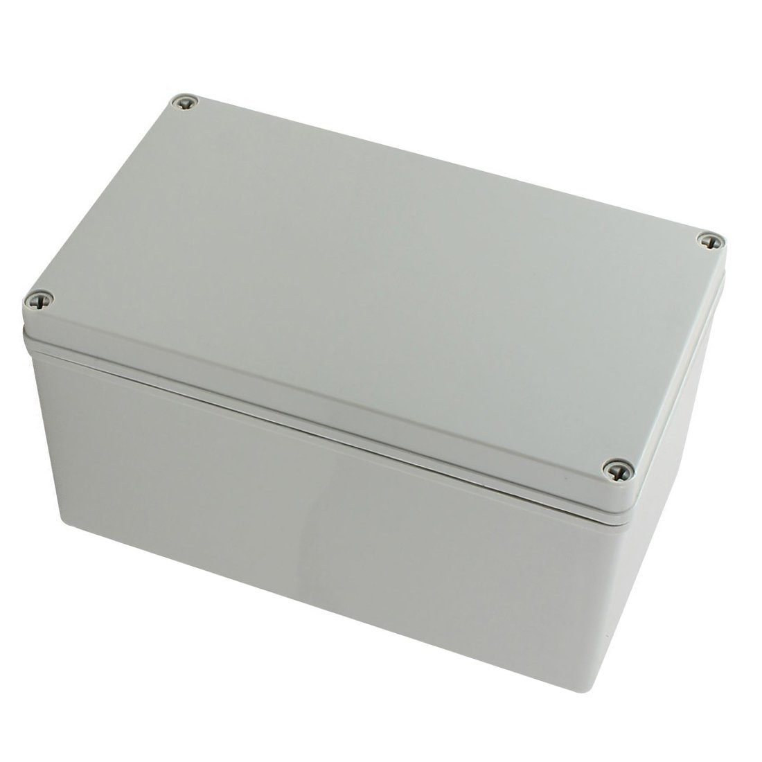 YXQ 9.8'' x 5.9'' x 5.1'' Junction Box Electrical Project Case IP65 Waterproof ABS DIY Power Outdoor Enclosure Gray (250 x 150 x 130mm)