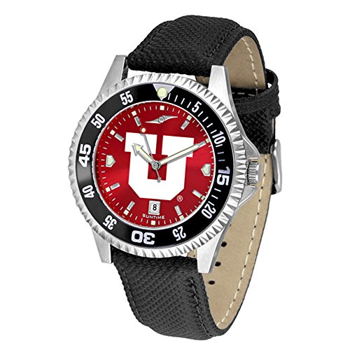 Utah Utes Competitor AnoChrome Men's Watch - Color Bezel