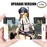 PUBG Mobile Controller, Upgrade Version PUBG/Knives Out/Rules of Survival/Fortnite L1R1 Aim & Fire Trigger Rules of Survival, Mobile Gaming Joysticks for Android IOS Phone(1 Pair)