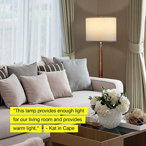 Brightech Lucas LED Pole Floor Lamp Living Light Beside The In Corners Tall Standing Drum Shade Lighting For