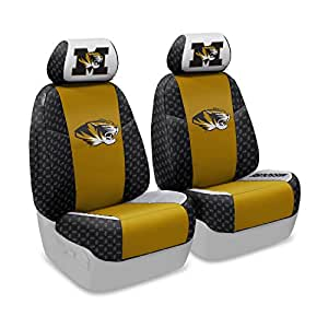 Coverking Front 50/50 Bucket NCAA Licensed Custom Fit Seat Cover for Select Honda Accord Models - Neosupreme (University of Missouri)