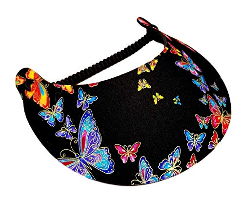 Butterfly Visor - The Incredible Sunvisor Available in Beautiful Patterns Perfect for Summer! Made in The USA! (Butterfly 6)