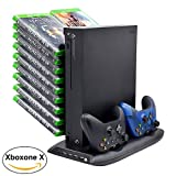 Xbox One X Games Controller Charging Stand with Cooling Fan, Game Storage Rack with 4 USB Ports for Xbox One X Review
