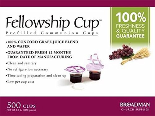 B & H Publishing Group 63431 Commun Fellowship Cup Prefilled Juice Wafer Box Of 500 by B from B