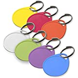 Lucky Line Products Round Label-It Plastic Tags, Assorted Colors with Labels, 25 Pack (25029)