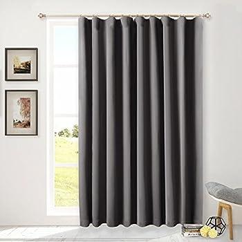 Amazon Com Nicetown Sliding Patio Door Curtains Grey