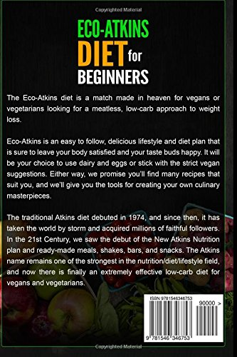 Eco-Atkins Diet Beginner's Guide and Cookbook: Eco-Atkins for ...