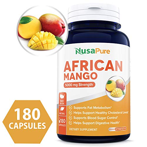 Best African Mango Cleanse 5000MG per Caps 180 Capsules (Non-GMO & Gluten Free) Extra Strong Pure 100% Fat Burner, Fast Weight Loss Diet Pills, Detox Drops Slim Prime - 100% Money Back Guarantee!