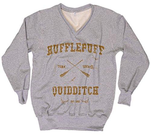Harry Potter Sweatshirt Harry Potter Sweater Hufflepuff Quidditch Sweater Everytees Sweatshirt Womens Sweater Gift for Women (Harry Potter Quidditch Uniform)