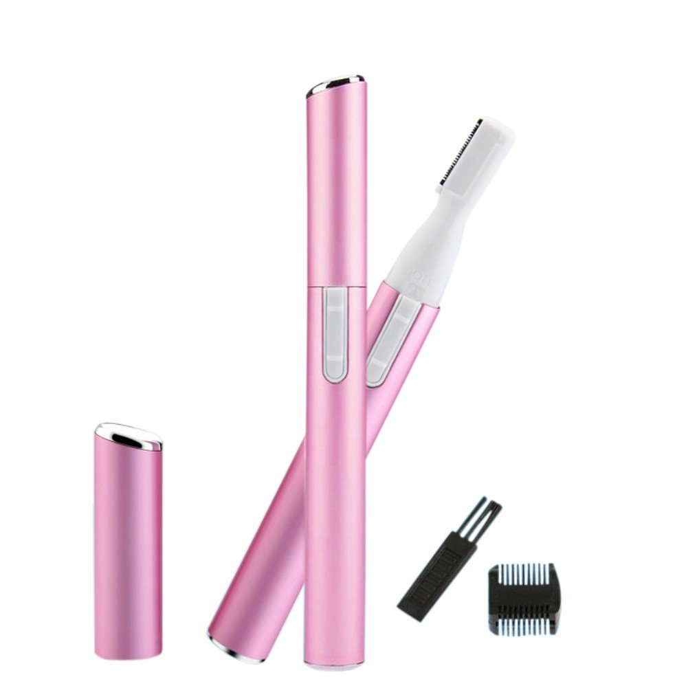 Mini Electric Eyebrow Trimmer, KISSION Portable Face Body Razor Shaver Epilator Hair Remover Charged by Battery