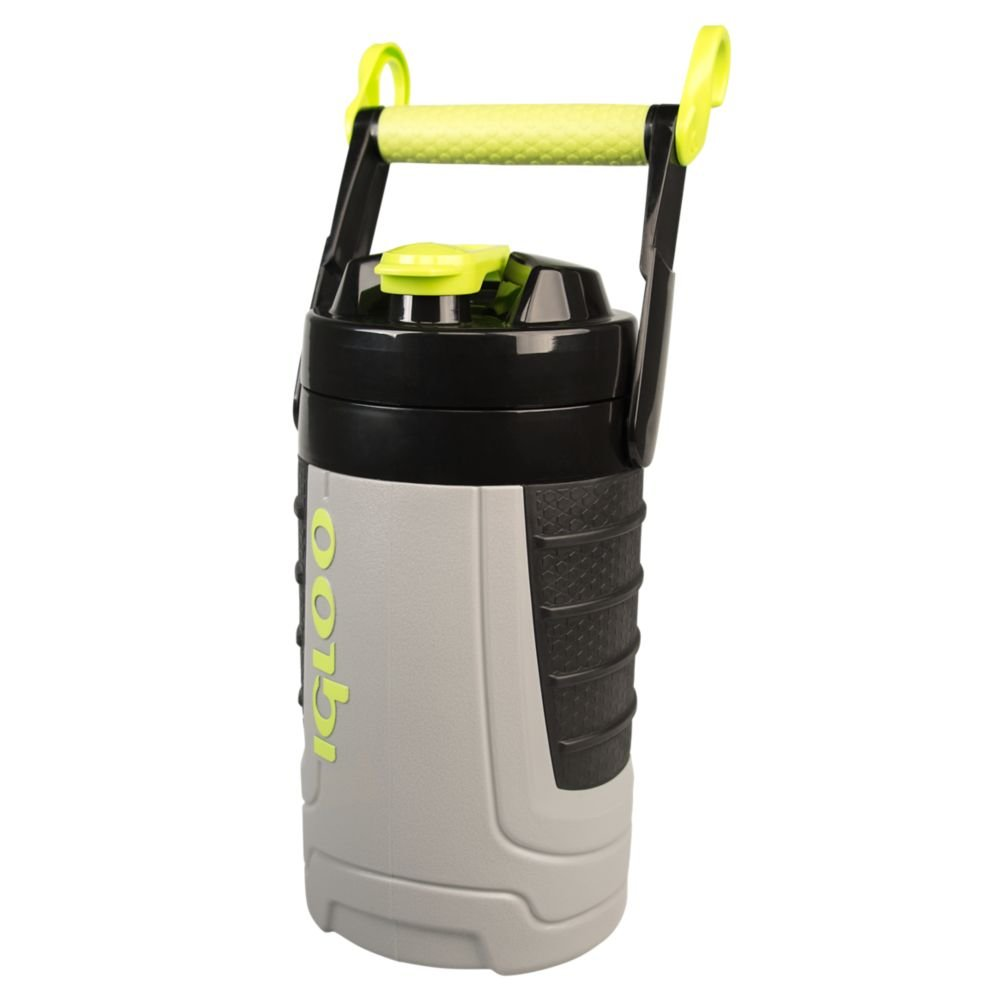 Igloo Proformance 1/2 Gallon Sport Jug-Ash Gray/Acid Green, Gray