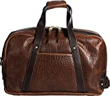 Weekender Bison Leather Duffel Bag