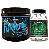 Furious Pre Workout Blue Raspberry Agmatine Combo Pack. 1 30 Serving Blue raspberry Furious plus Agamine 120 count bottle Amazing Energy And Pumps by Ai Sports Nutrition