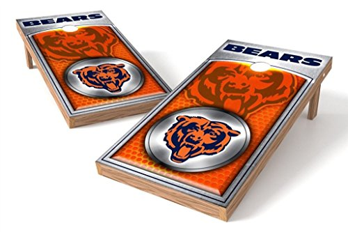 PROLINE NFL 2'x4' Chicago Bears Cornhole Set with Bluetooth Speakers - Medallion Design