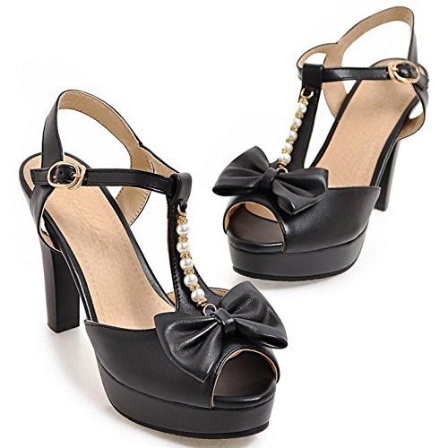 Femmes Peep Black Sandales RAZAMAZA Toe xwWPv6qC0n