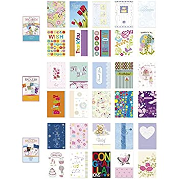 Amazon paper magic all occasion handmade greeting card assorted all occasion cards box set 30 pack thinking of you blank thanks you congratulations birthday greeting cards assortment in bulk m4hsunfo