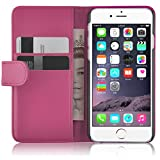 """iPhone 6 Case, iPhone 6s Wallet, JAMMYLIZARD Leather Wallet Flip Cover for iPhone 6 / 6s 4.7"""", Hot Pink"""