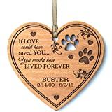 LifeSong Milestones Personalized Pet Memorial dog Ornament Christmas Sympathy gift for Pets for loss of dogs or cats In Memory keepsakes by (If Love could have saved You heart Ornament)