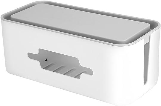 MagiDeal Cable Gestión Caja Organizadora Alambre Cable Organizador Caja para regletas, hub USB y Adaptador – 31 x 13 x 13.5 cm: Amazon.es: Electrónica